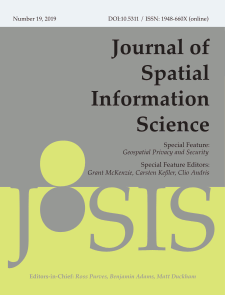 View No. 19 (2019): Special Feature on Geospatial Privacy and Security