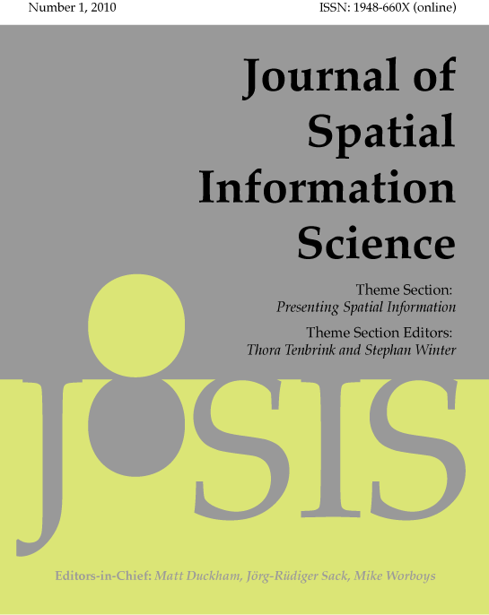 View No. 1 (2010): Special Feature on Presenting Spatial Information